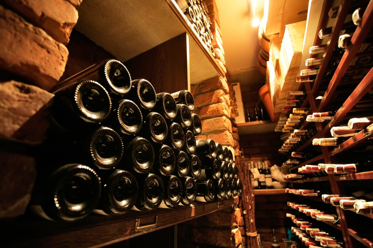 Cellars of local wine await in Vouvray I