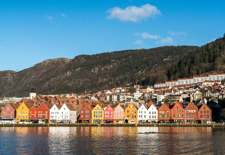 Site of the old Hanseatic League houses of Bergen, Norway
