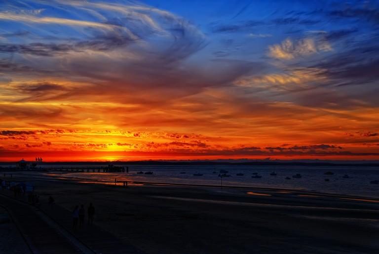 Sunset in Arcachon