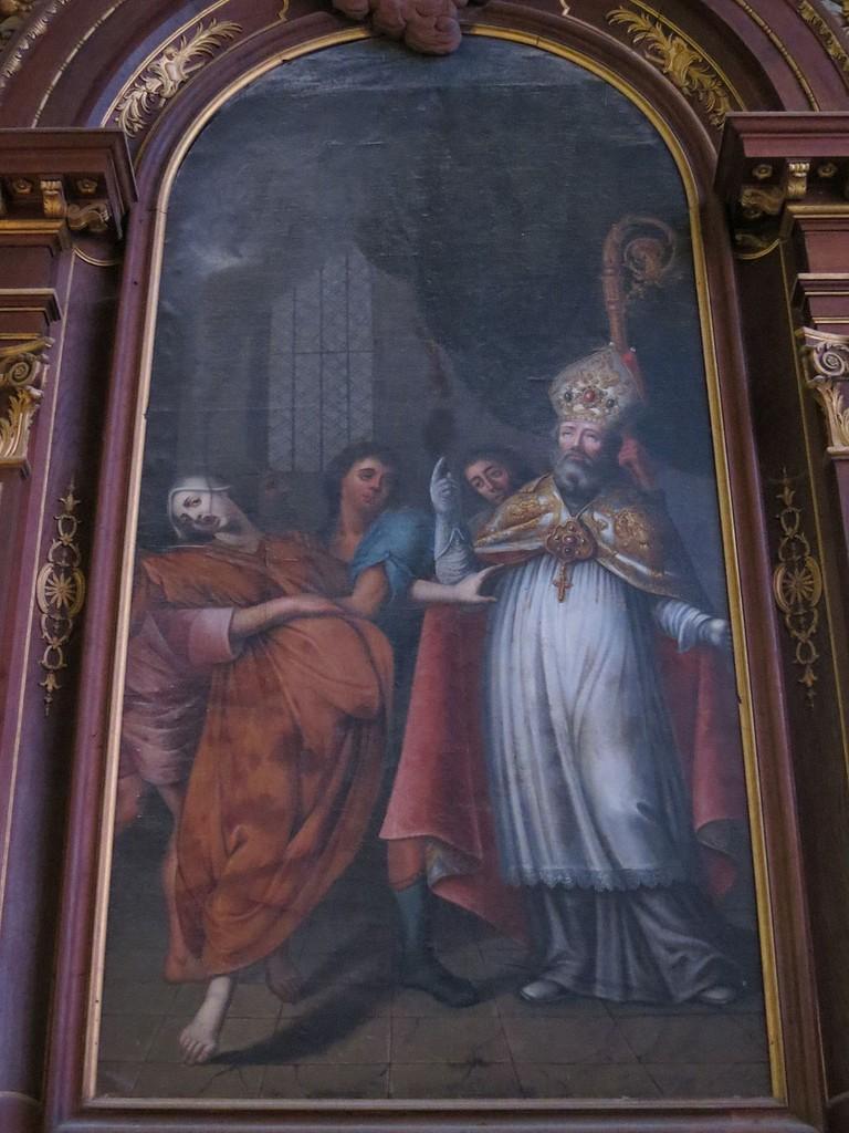 Tableau de Rupalley du XVIIIe siècle représentant Saint-Exupère, dans la chapelle Saint-Julien et Saint-Exupère│© Giogo / Wikimedia Commons