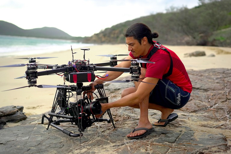 Jeff Orlowski used drones to photograph coral reefs from the air