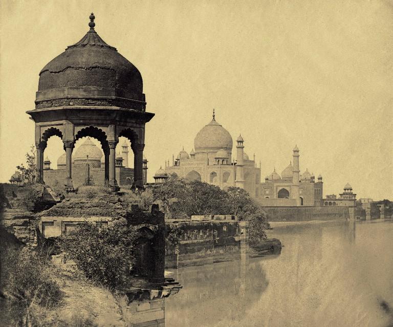 Felice Beato, Taj Mahal from the Jumna, Agra, 1859