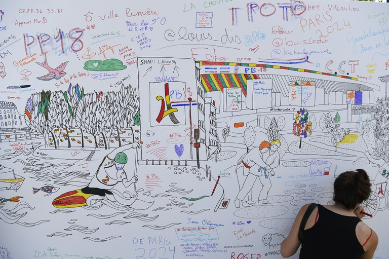 THE WALL OF SHARING DURING THE OLYMPICS DAYS, IN PARIS, FRANCE, ON JUNE 23, 2017 │© STEPHANE KEMPINAIRE / KMSP / PARIS 2024