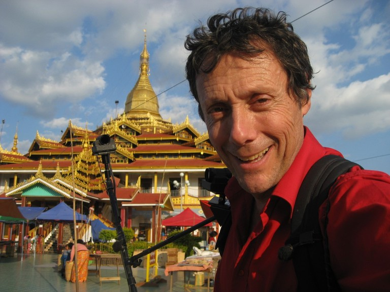 Beside the Nga Phe Kyaung Monastery on Inle lake, Myanmar