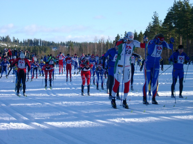 Vasaloppet is one of the largest cross country ski races in the world /