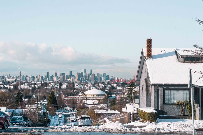Snow day overlooking Vancouver