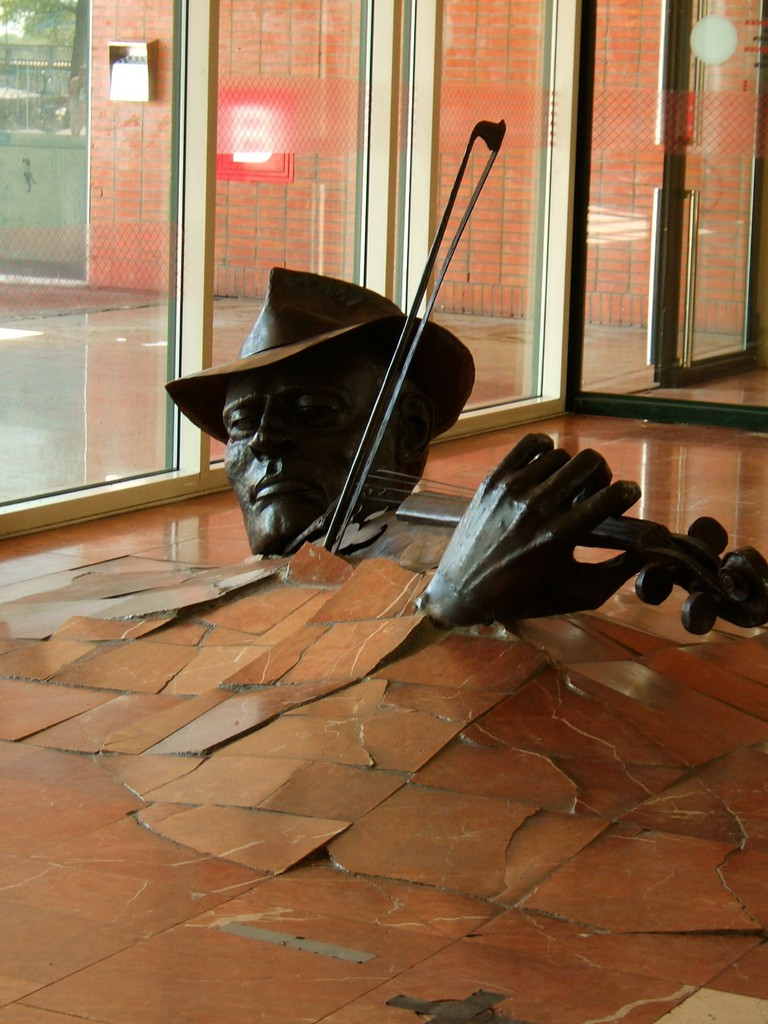 the Violinist by the Unknown Sculptor in Stopera