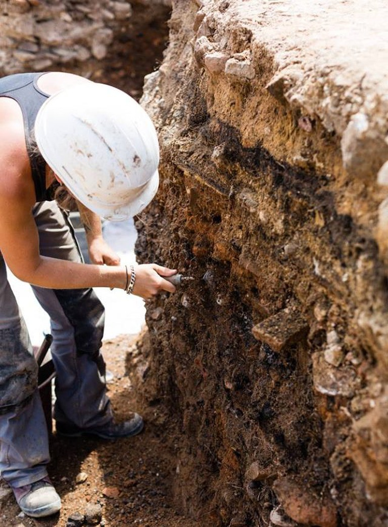 There are 15 archaeologists working on the site, along with five interns