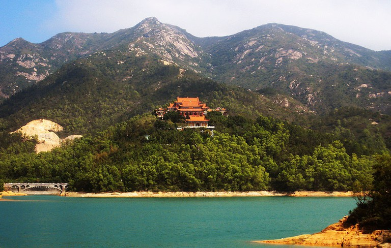 A view of Jintai Temple in Zhuhai – the city is praised for its green and beautiful environment.