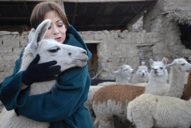 Beatriz y Alpacas