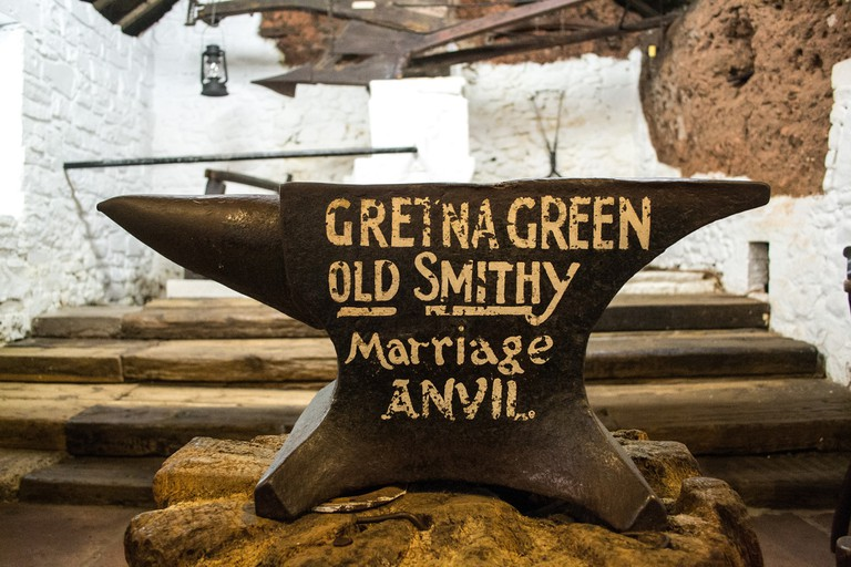 Gretna Green Old Smithy Marriage Anvil