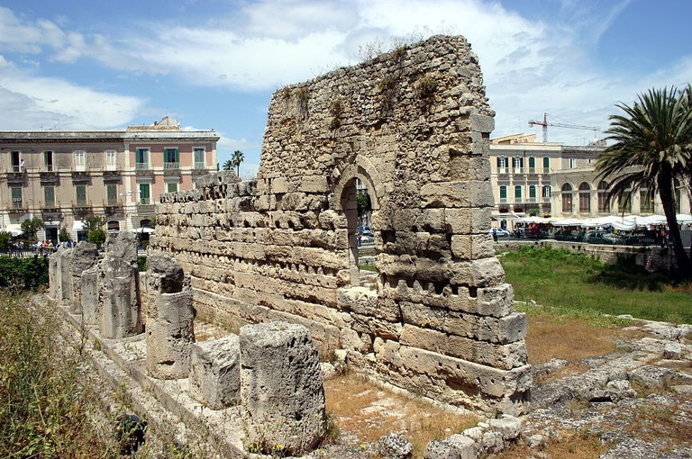 Ruins of the Temple of Apollo in Syracuse, Sicily