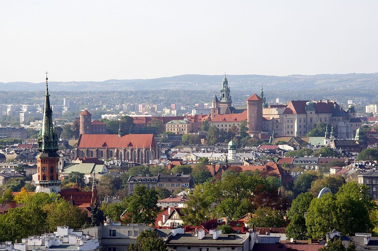 View from Krakus Mound