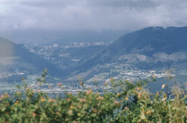 View from Tumbaco Towards Quito, Ecuador