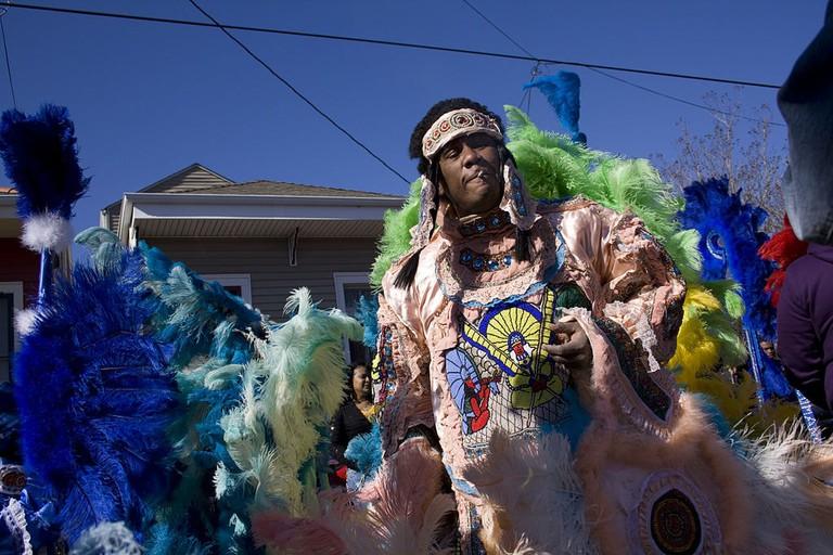Mardi Gras Indian celebrates Fat Tuesday | © Derek Bridges/WikiCommons