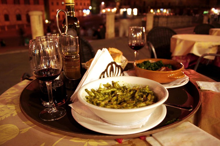 Trofie pasta pairs well with freshly made pesto