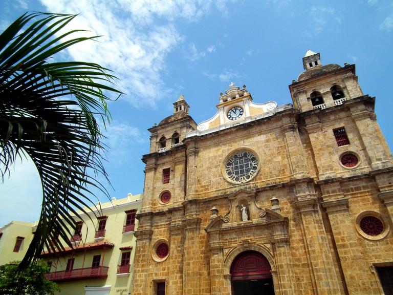 The church on Plaza San Pedro Claver