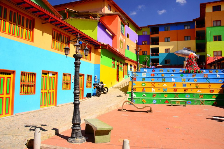 The colourful streets of Guatape