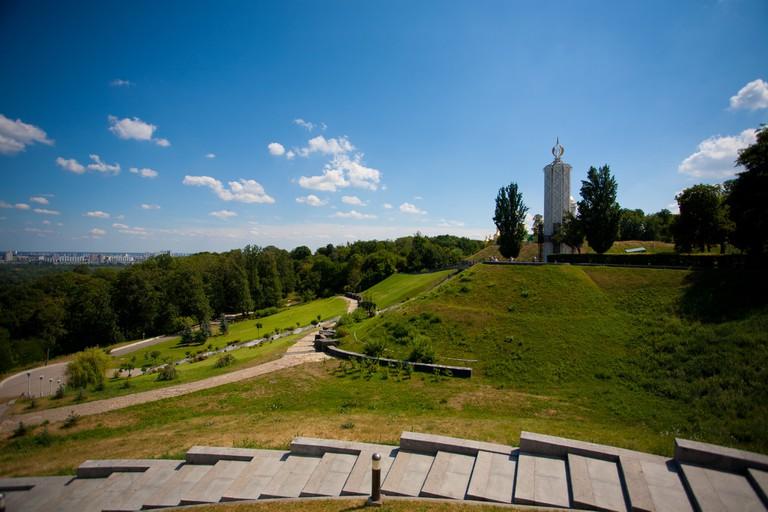 Hills of Kiev city