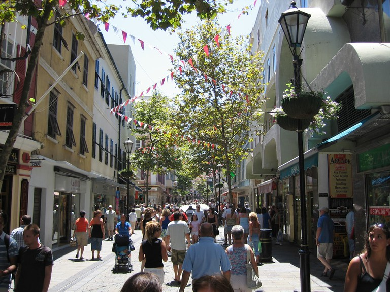 Main Street in Gibraltar's Old Town; rp72, flickr
