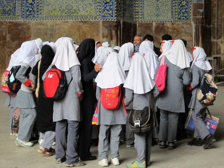 School girls wearing the Islamic hijab