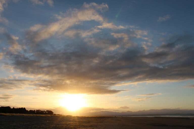 Sun Rays Over Tahunanui Beach, Nelson