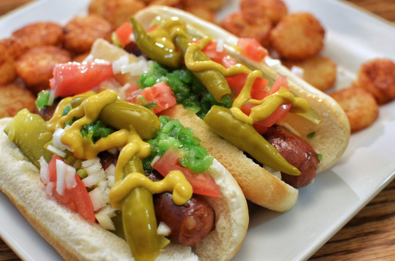 Mmm … Chicago-style hot dogs
