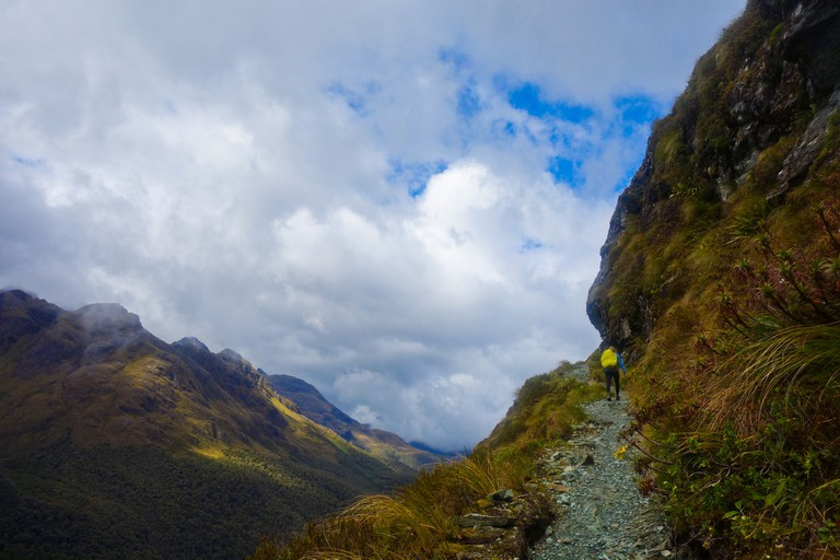 A Hiker on the Routeburn Track