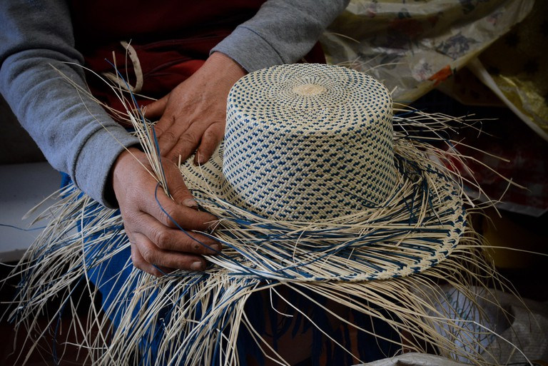Making Straw Hats, Sigsig, Ecuador