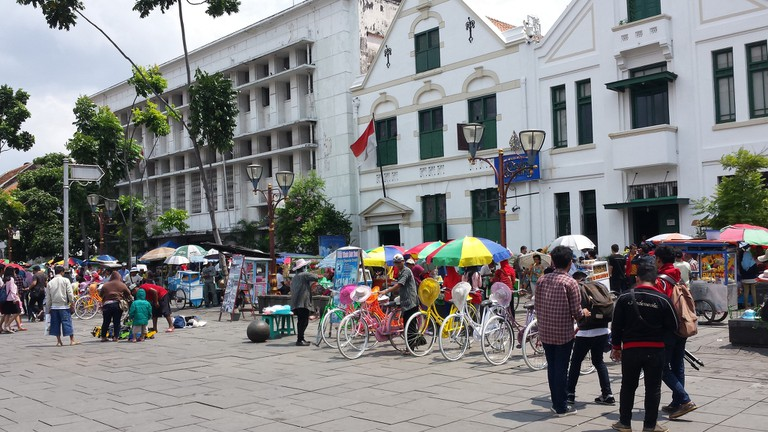 Colonial buildings at Jakarta Old Town│