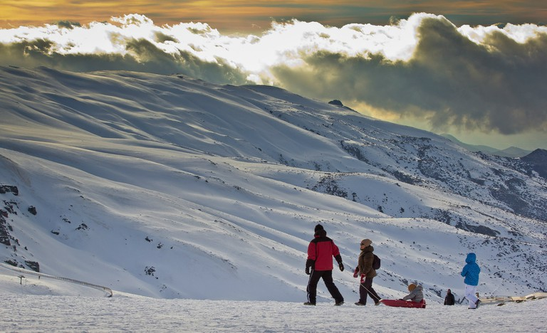 From easy slopes to tobogganing there are lots of options to entertain the kids