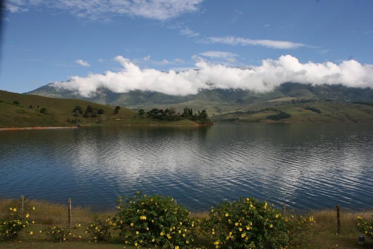 The beautiful waters of Lake Calima