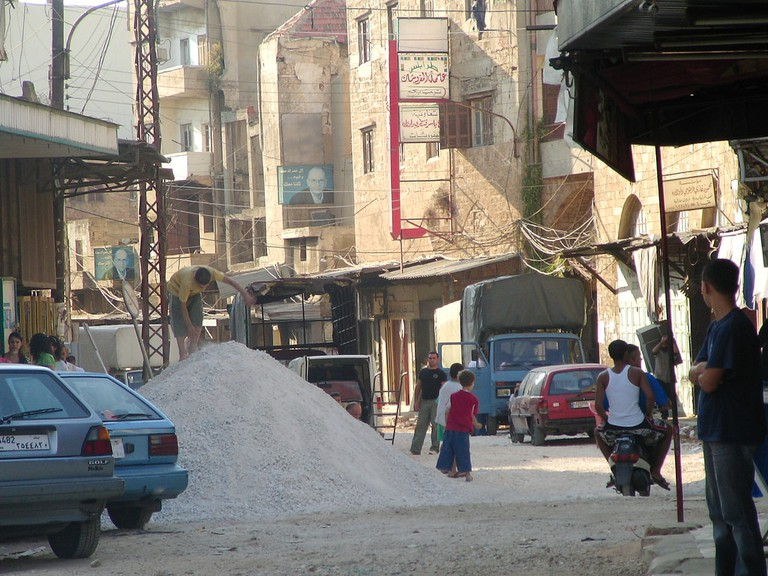 A scene of Tripoli similar to what you might see in a documentary