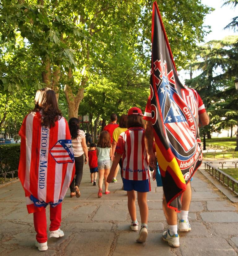 Atlético fans