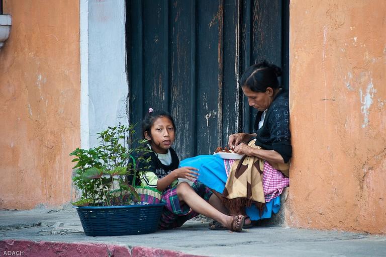 People in Antigua Guatemala