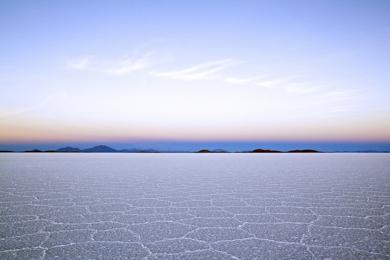 The Salar de Uyuni at dawn