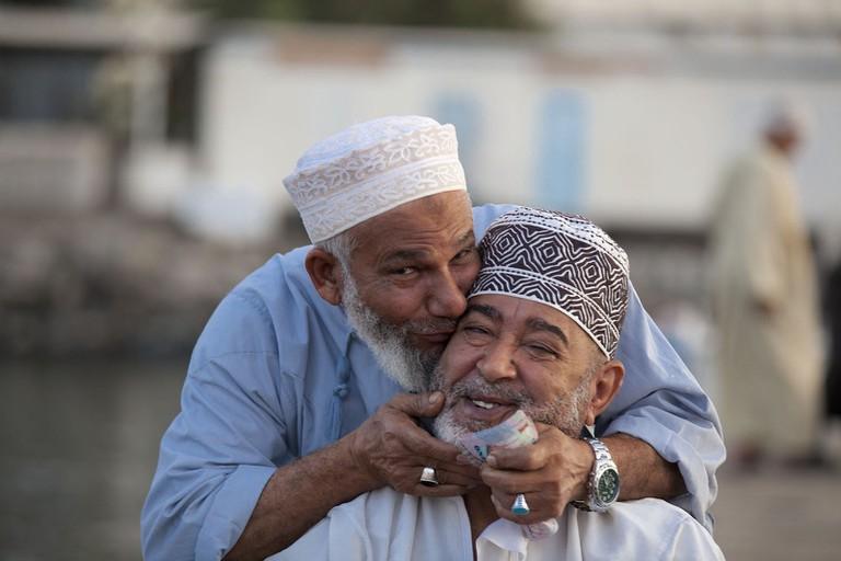 Omanis at the Fish Market