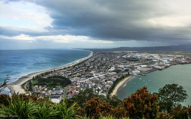 View of the Tauranga Harbour from Mount Maunganui