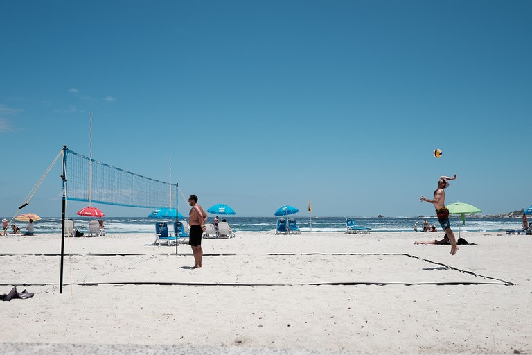 Beach volleyball on Camps Bay
