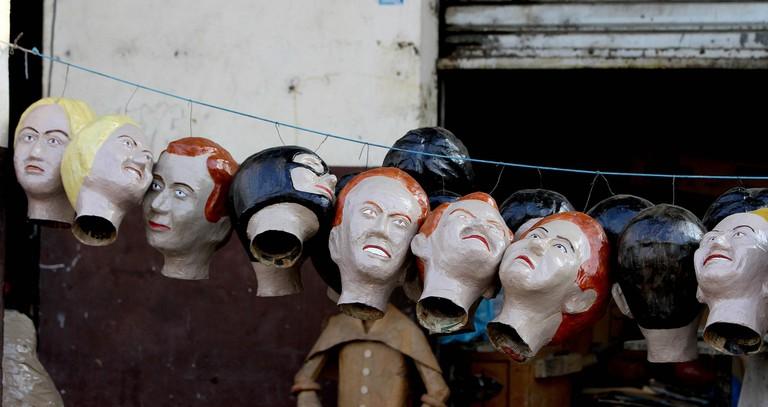 Papier mache heads, Guayaquil, Ecuador