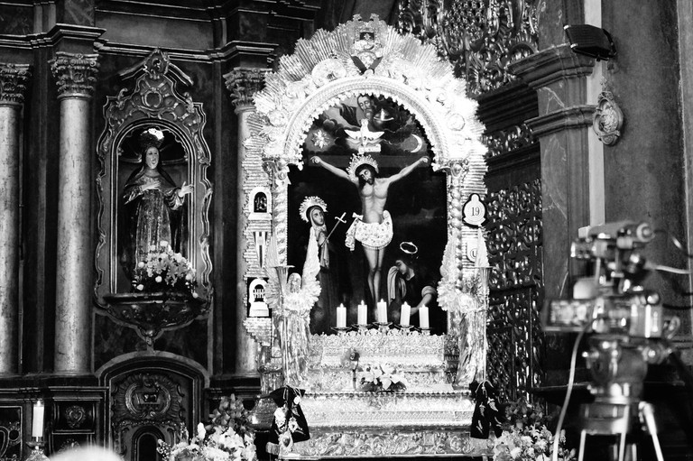 Christ in a church in Lima