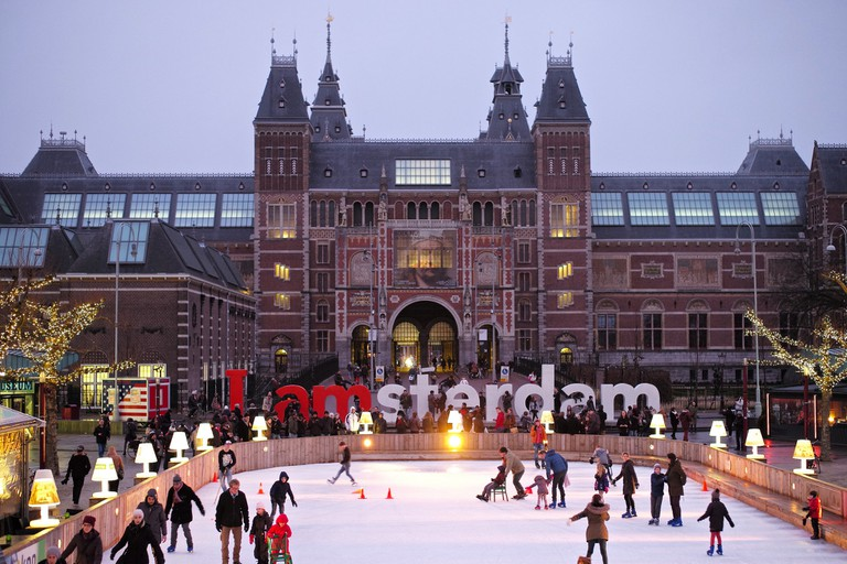 The ice rink outside the Rijksmuseum