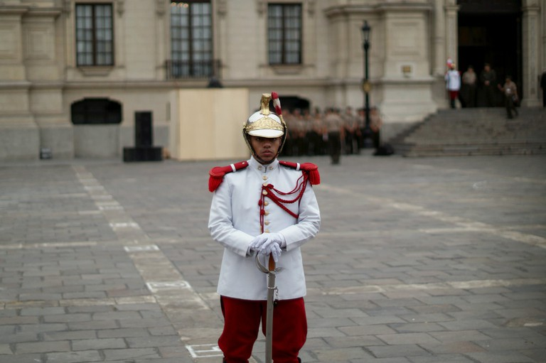 Guard in Lima
