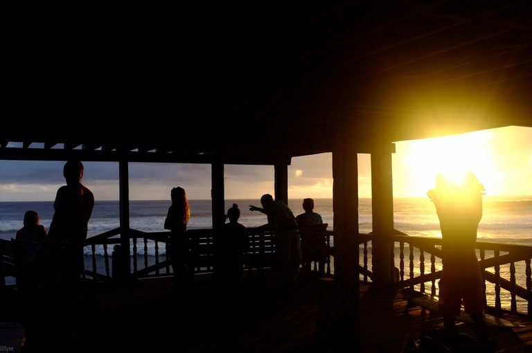 Sunset view by the sea, Siargao