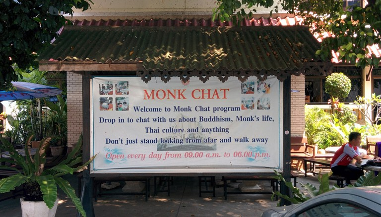 Sign at Wat Chedi Luang