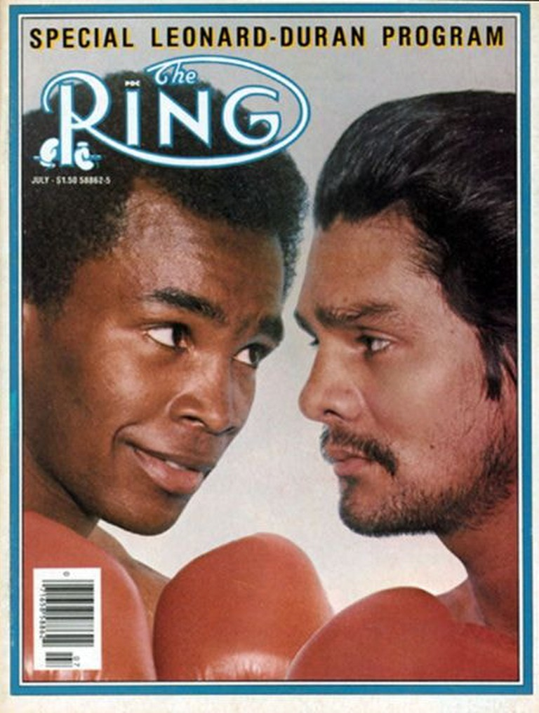 Sugar Ray Leonard and Durán on the cover of Ring Magazine