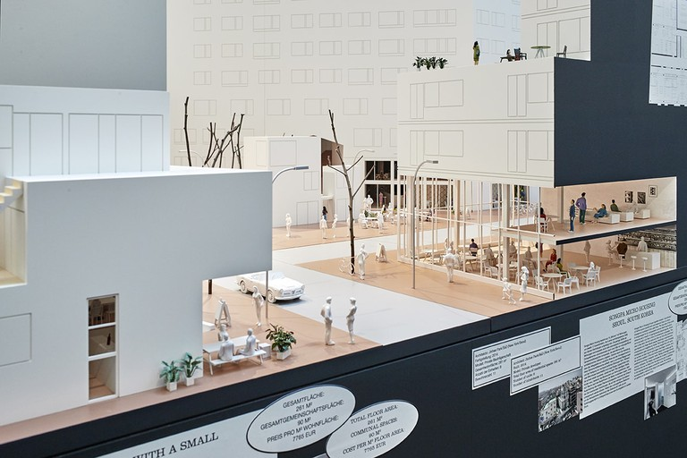 Installation view of Together! The New Architecture of the Collective, Vitra Design Museum | © Mark Niedermann