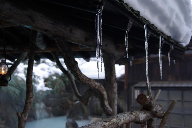 Rotenburo in winter