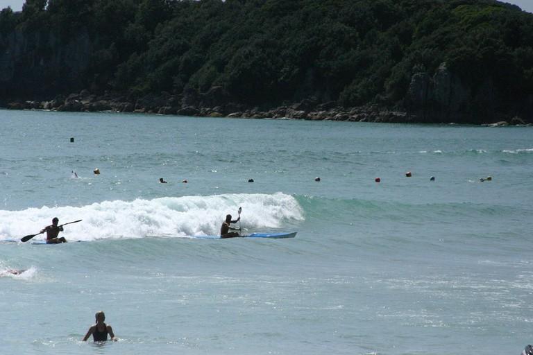 Surf Kayaks in Mount Maunganui Beach