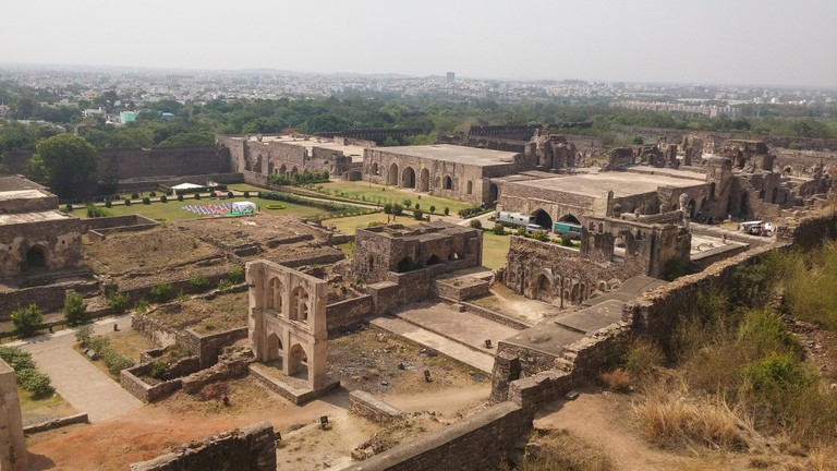 An aerial view of Golkonda fort in Hyderabad